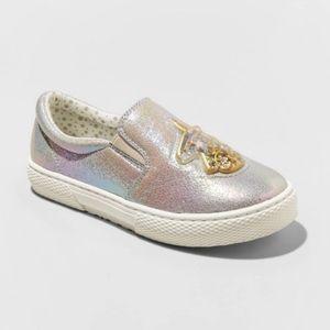 NWOT (4) Big Girls Unicorn Slip On Loafer